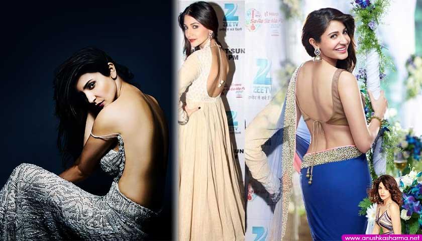 Anushka Sharma flaunts bare back