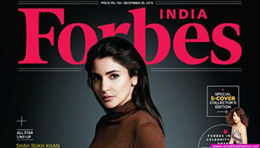 Anushka Sharma - Forbes India Magazine