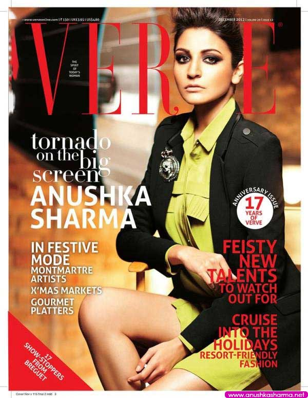 Anushka Sharma on Verve Cover