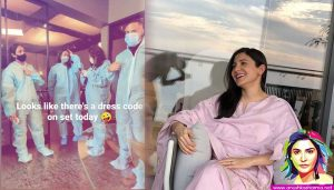 Mom-to-be Anushka Sharma shoots, pregnant, ppe kits
